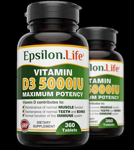 Vitamin D3 5000 iu Epsilon Life