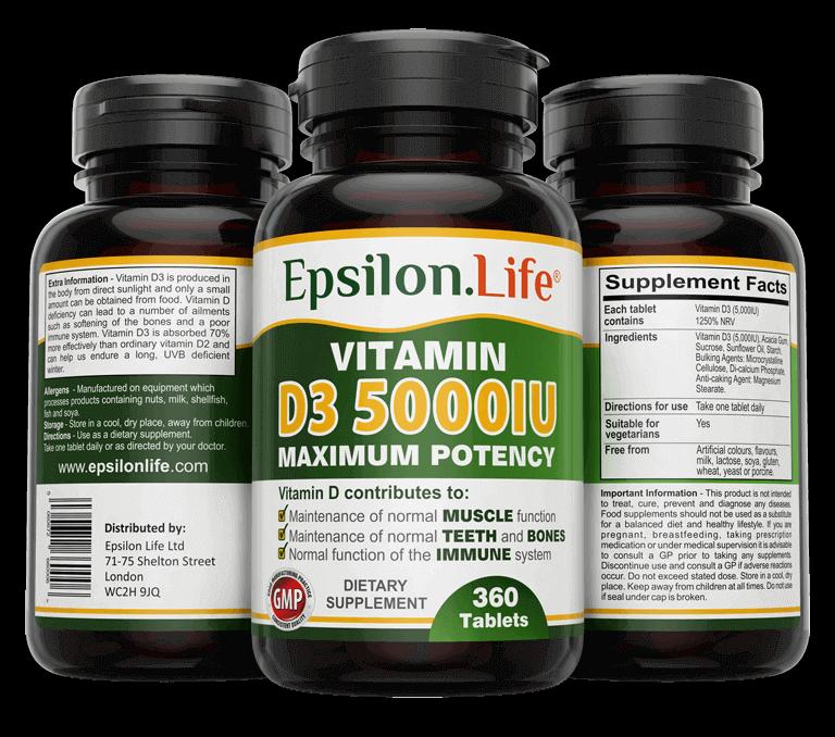 high strength vitamin d3 5000 iu